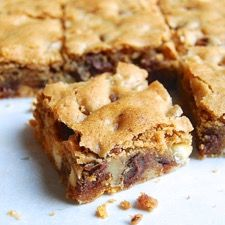 KAF Chewy Chocolate Cookie Bars....best recipe I have found yet and really fills up the 9x13 pan.