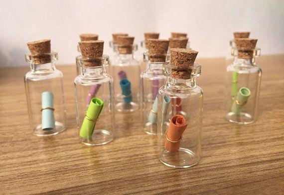 50 Pcs Mini Glass Bottle Vials by YourLittleStore on Etsy
