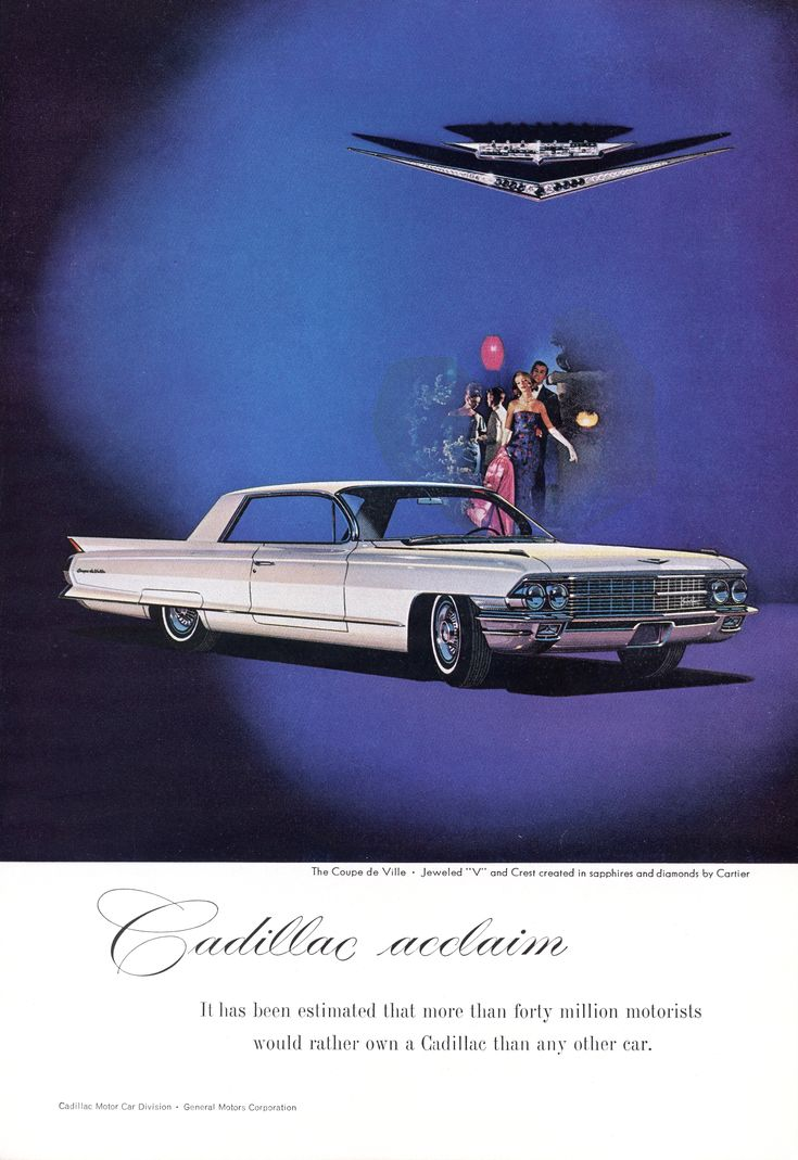 11 best 1962 Cadillac Ads images on Pinterest | Cadillac, Autos and