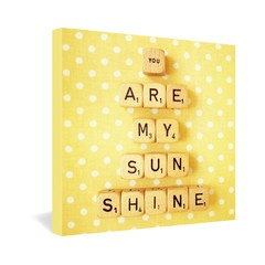 Happee Monkee You Are My Sunshine Gallery Wrapped Canvas