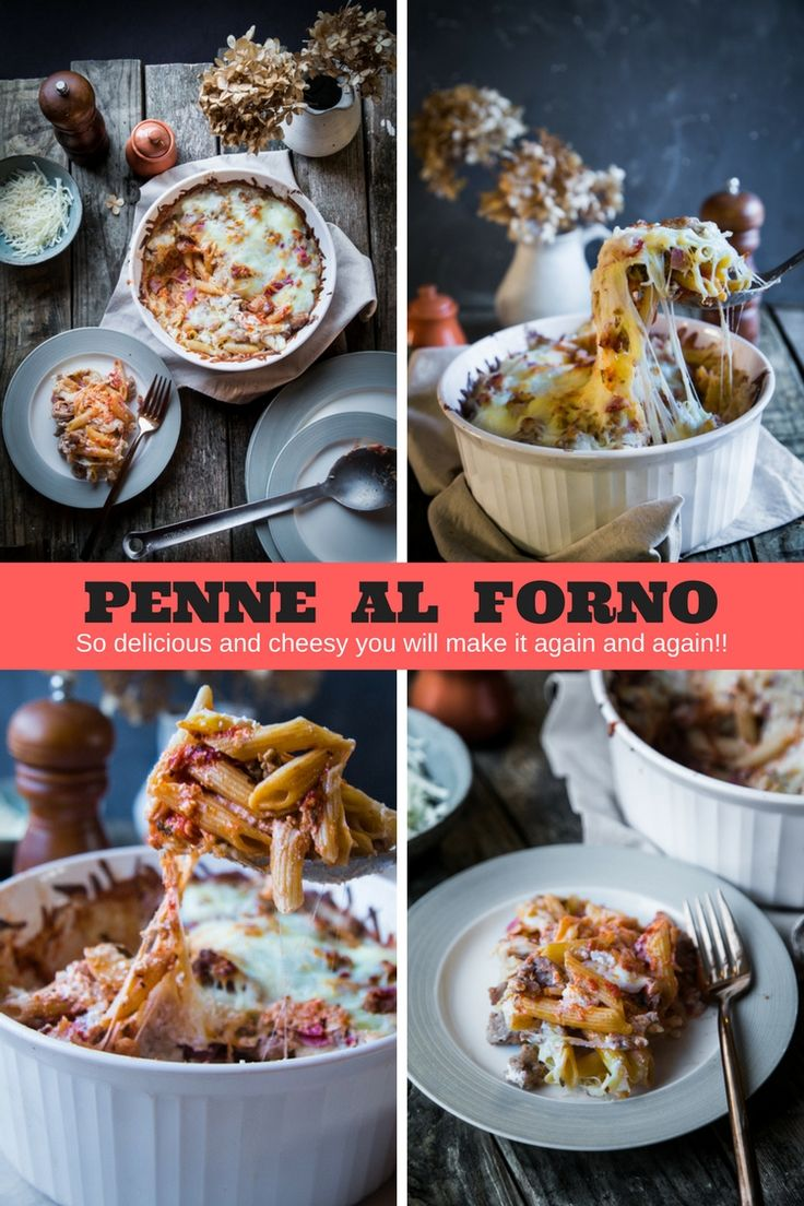 This Penne Al Forno is delicious,cheesy and filled with sauteed Italian Sausage, Prosciutto, Pepperoni, Ricotta, Parmesan, and Mozarella #StayInWithPasta #ad @barillaus