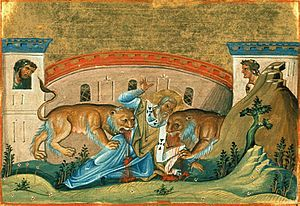 "St. Ignatius of Antioch, feast day oct 17, ""I prefer death in Christ Jesus to power over the farthest limits of the earth. He who died in place of us is the one object of my quest. He who rose for our sakes is my one desire."""