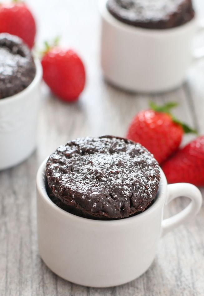 4 Ingredient Flourless Chocolate Mug Cake - Kirbie's Cravings