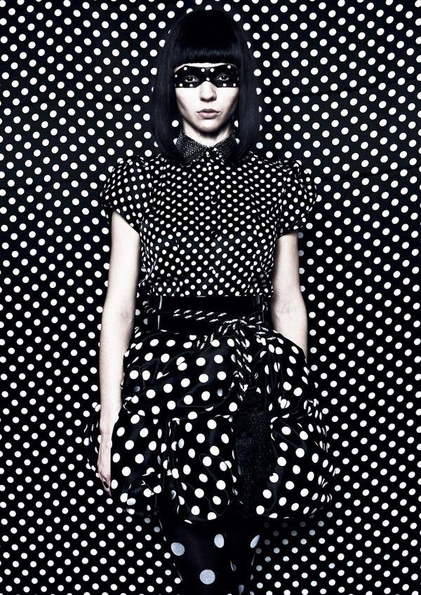 pop art: Munenari Maegawa, Hair Magazines, Pop Art, Polka Dots, Polkadot, Black And White, Black White, The Dots, Japan Hair