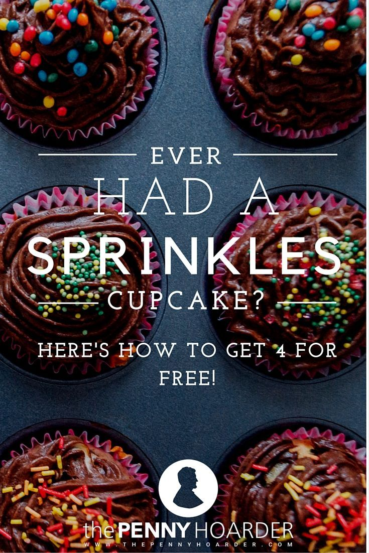 Cupcakes are awesome. Free cupcakes are even better! If you live near a Sprinkles Cupcakes location, you can get three free treats just by signing up for their new Perks program.  - The Penny Hoarder http://www.thepennyhoarder.com/free-sprinkles-cupcakes/