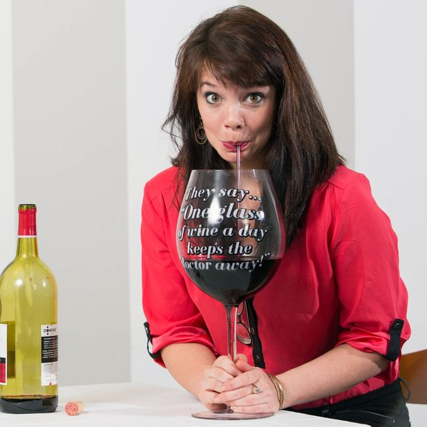 We ve all heard the saying  an apple a day keeps the doctor away , well with this funny wine glass, you can put a grownup spin on the old phrase. Whether you re indulging in red, white, or blush, stay...