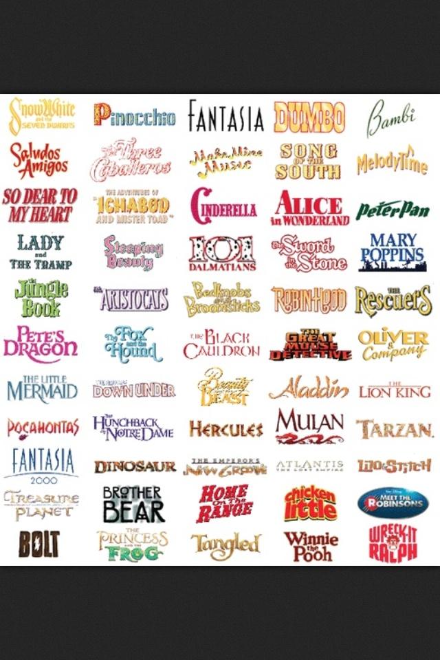 All The Disney Movie Titles Disney All Disney Movies