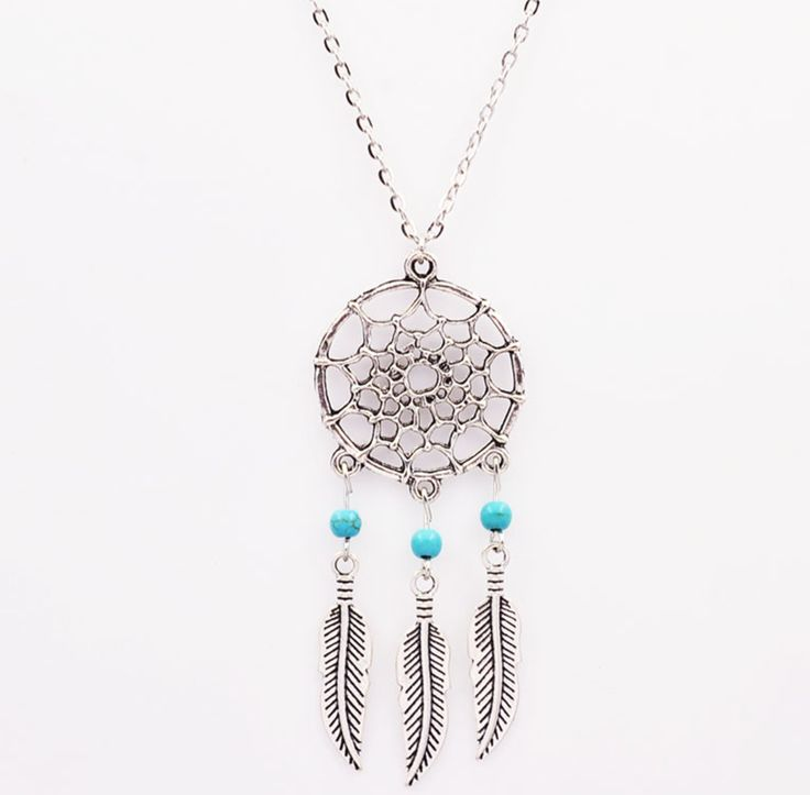 This beautiful dreamcatcher pendant necklace is available in your choice of…