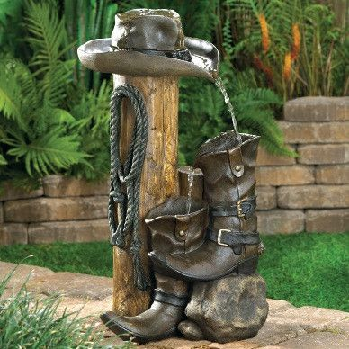 Wild Western Water Fountain #outdoordecor #decor #shopping #gifts