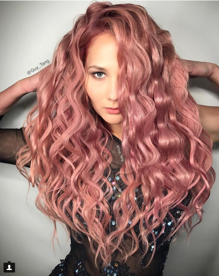 Rose Gold Hair Is The Latest Hair Color Trend on Pinterest!