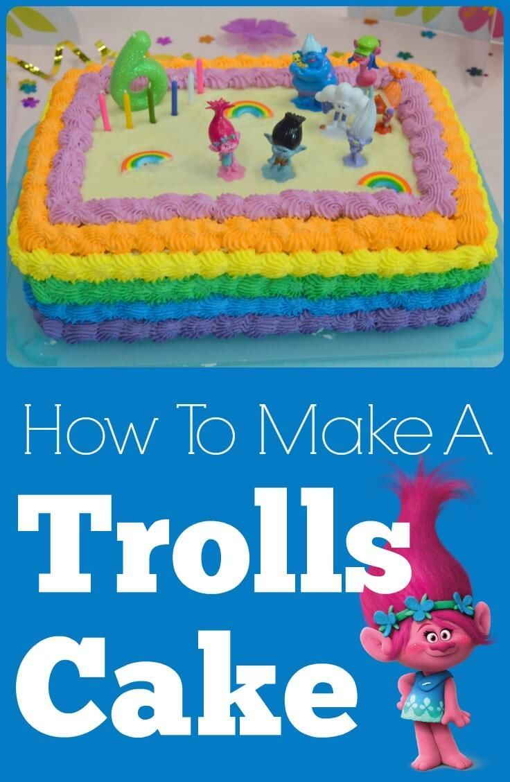 How to Make a Trolls Cake // Creating My Happiness