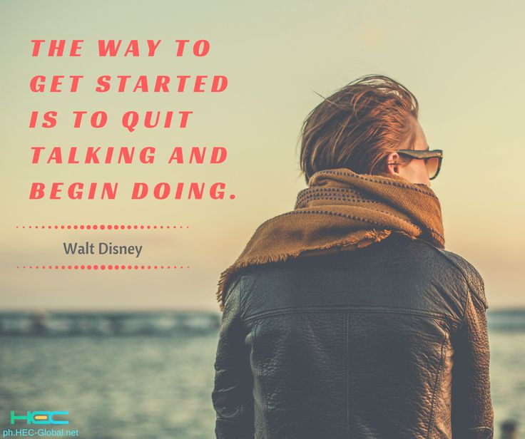 """The way to get started is to quit talking and begin doing."" – Walt Disney  Do you agree? #RUSHtoSUCCESS  #MondayMotivation"