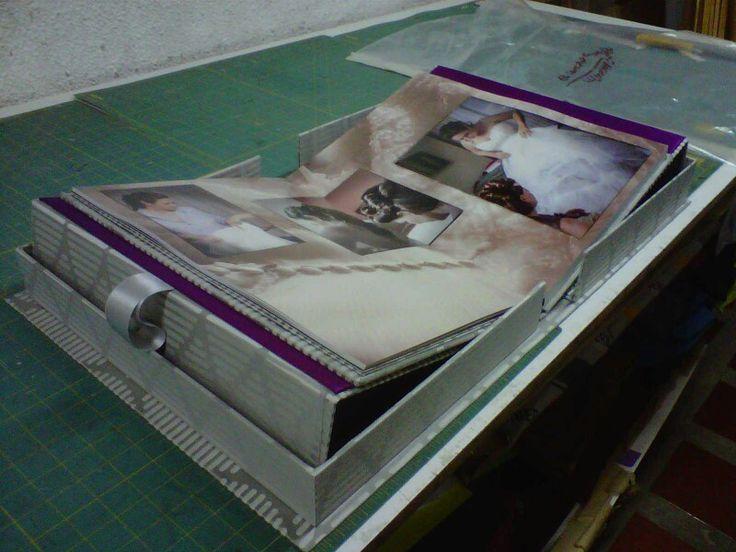 Caja y álbum fotográfico de boda