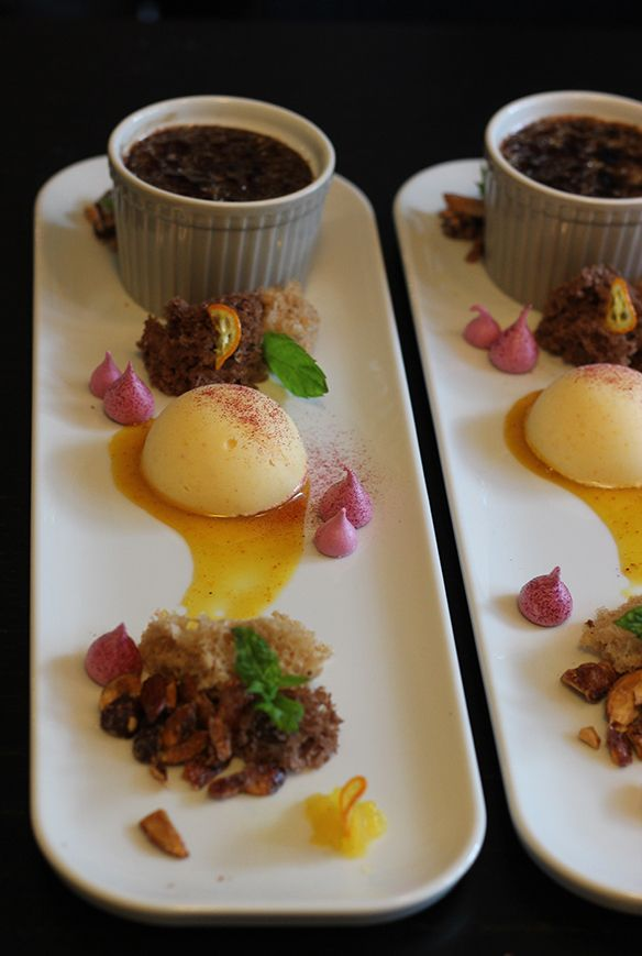 cirusdessert, dessert, nyponglass, gelato, sponge, coulis, choklad creme brulee, svartvinbärsmaränger, apelsinglass, Magdalena Larsson