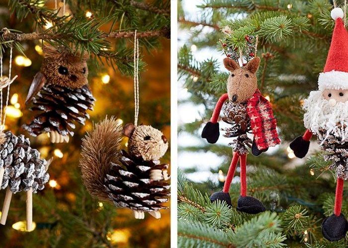 Tannenzapfen Christbaumschmuck Selber Machen Weihnachtsbasteln Mit Kindern