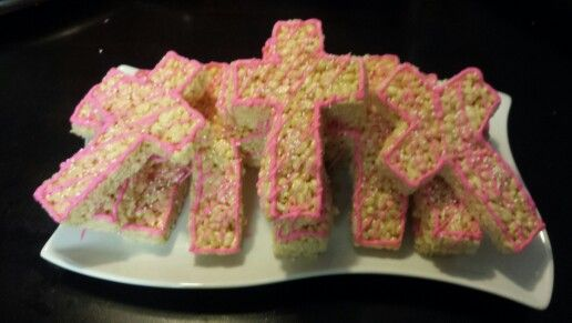 Cross shaped rice krispy treats
