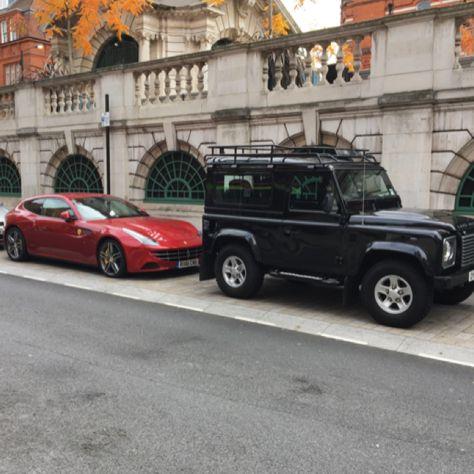 Ferrari Land Rover defender