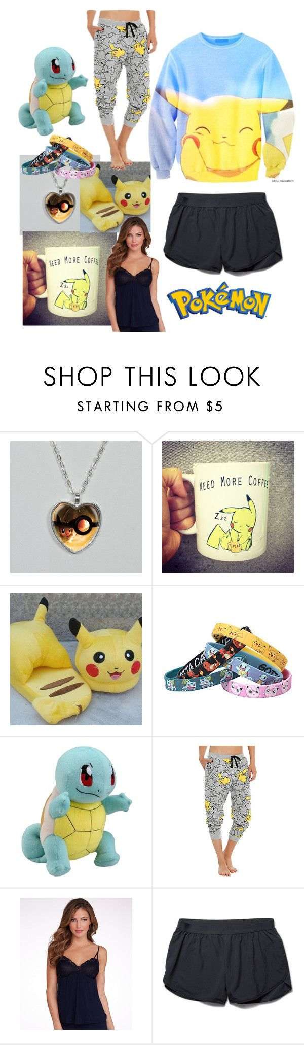 """""""Pokemon Sleep"""" by carolinerosel ❤ liked on Polyvore featuring Disney, Eberjey and Under Armour"""