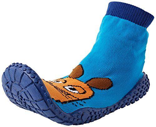 Playshoes DIE MAUS Aqua-Socke Badeschuhe DIE MAUS 174812, Jungen Aqua Schuhe, Blau (original 900), 18/19 EU - http://on-line-kaufen.de/playshoes/18-19-eu-playshoes-aqua-socke-badeschuhe-die-maus