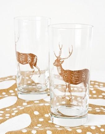 Woodland glassesDecor, Simrin Woodland, Glasses Image, Things, Bunnies Glasses, Products, Woodland Whimsy, Stag Glasses, Woodland Glasses