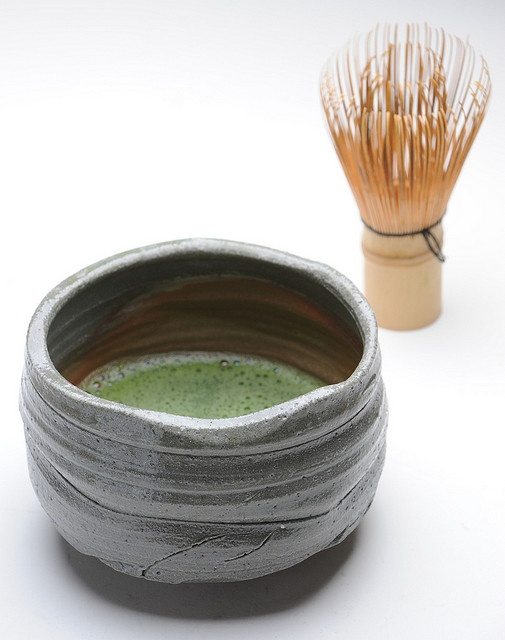 Japanese matcha tea with a bamboo whisk! So delicious and 10 times more beneficial than regular green tea.