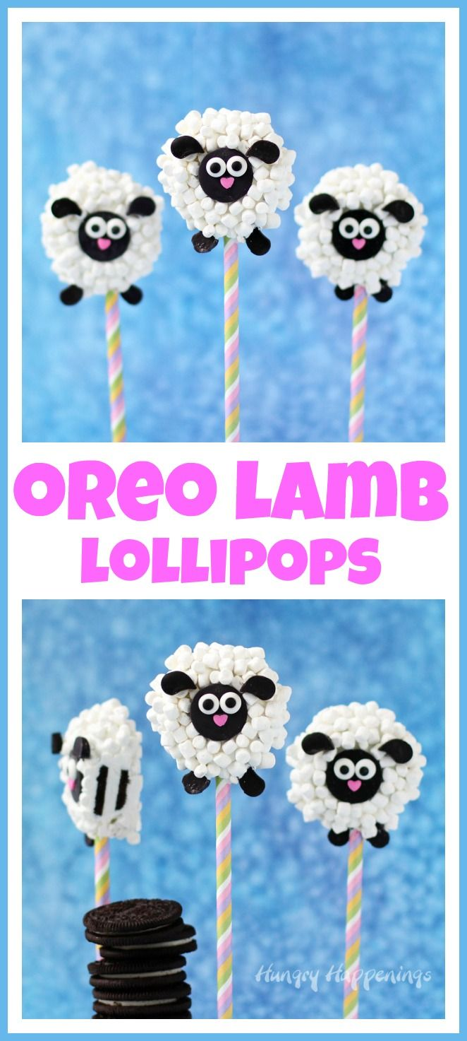 Oreo Lamb Lollipops will brighten up your Easter baskets. They are as sweet to look at as they are to eat.