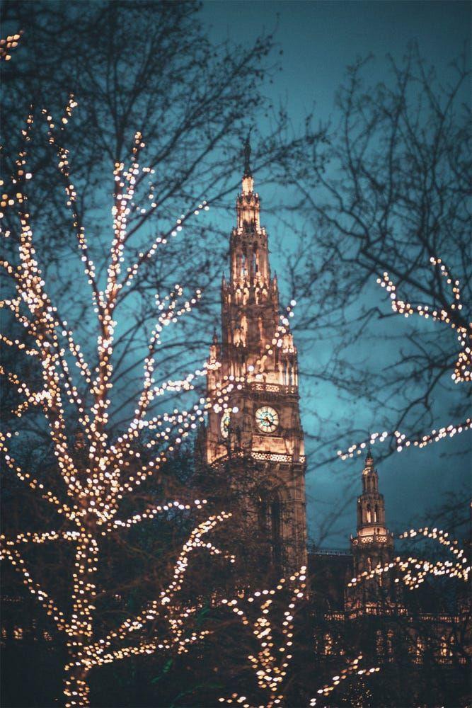 Weihnachten 2019 österreich.Christmas Lights Vienna Austria Joy To The World In 2019 Wien