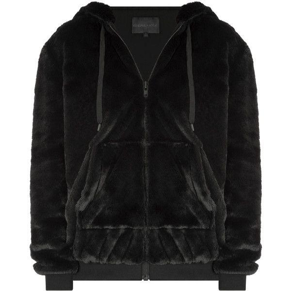 Kendall Kylie Fur Zip Up Hoodie ($264) ❤ liked on Polyvore featuring tops, hoodies, zip hoodie, zipper hoodies, hooded zip sweatshirt, zip up hoodies and zip up top