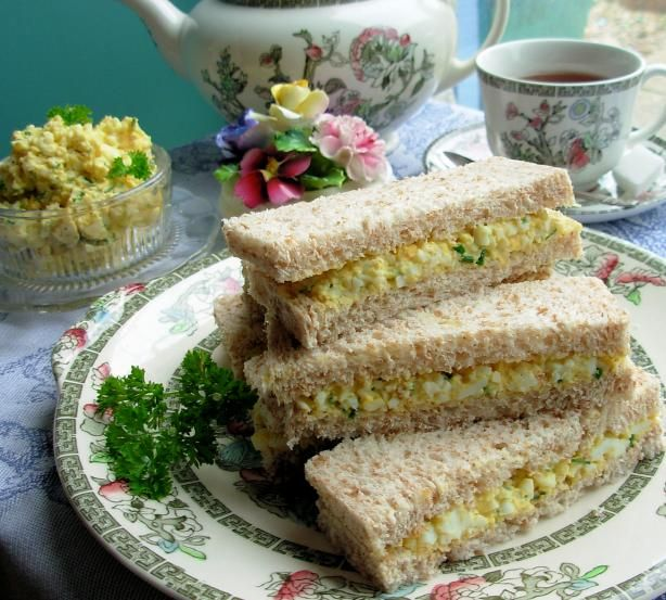 egg & chive tea sandwiches