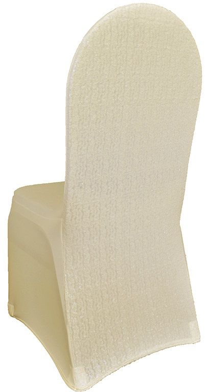 2 Ivory Sequin Chair Covers Spandex Tight Fitting Chair Cover Chivari Sequin Glitter Sparkly Cover Sequined Blush Gold Wedding Chairs Bride