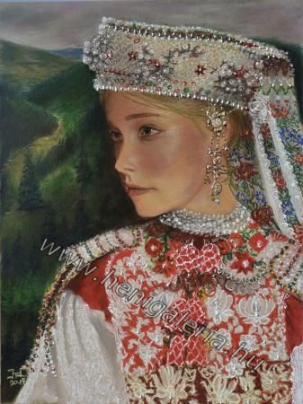 Gallery of Origin #Paintings: in pearly coronet from Kalotaszeg Kalotaszegi gyöngyös pártában http://henigaleria.hu/en/kepek.php?album=Origin%20Paintings&page=7