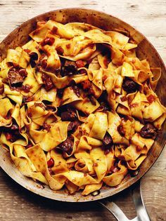 Claudia Roden's pappardelle with duck sauce is an irresistible pasta dish. Ribbons of pasta coated with a silky, meaty ragu sauce. Comfort in a bowl and a perfect main course for a cold day.