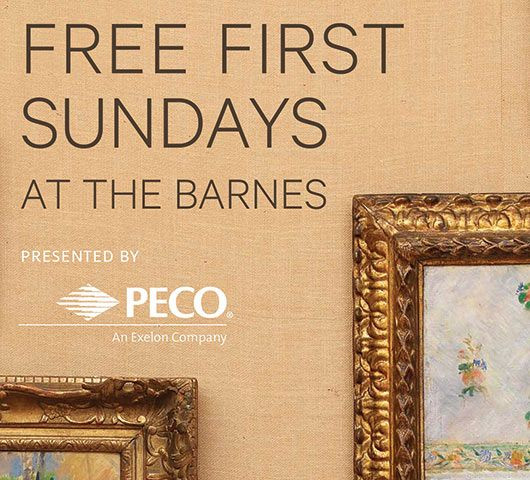 Free First Sunday presented by PECO-The Barnes offers free admission and programming on the first Sunday of every month.