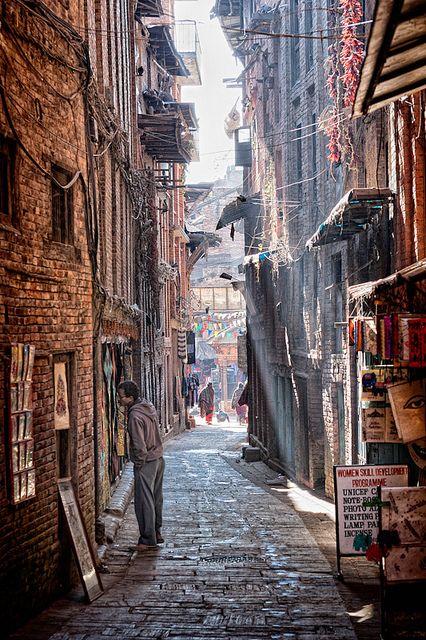 Alleys of Bhaktapur, Nepal. http://www.lonelyplanet.com/nepal/around-the-kathmandu-valley/bhaktapur