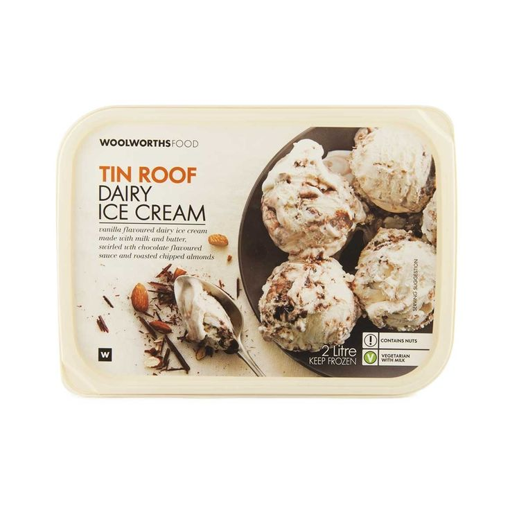 The Perfect Hot Day Dessert - Tin Roof  Dairy Ice Cream 2L