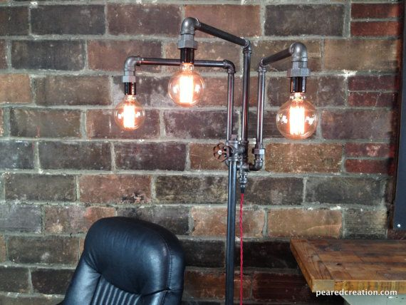 Adjustable Floor Lamp Industrial Furniture by newwineoldbottles