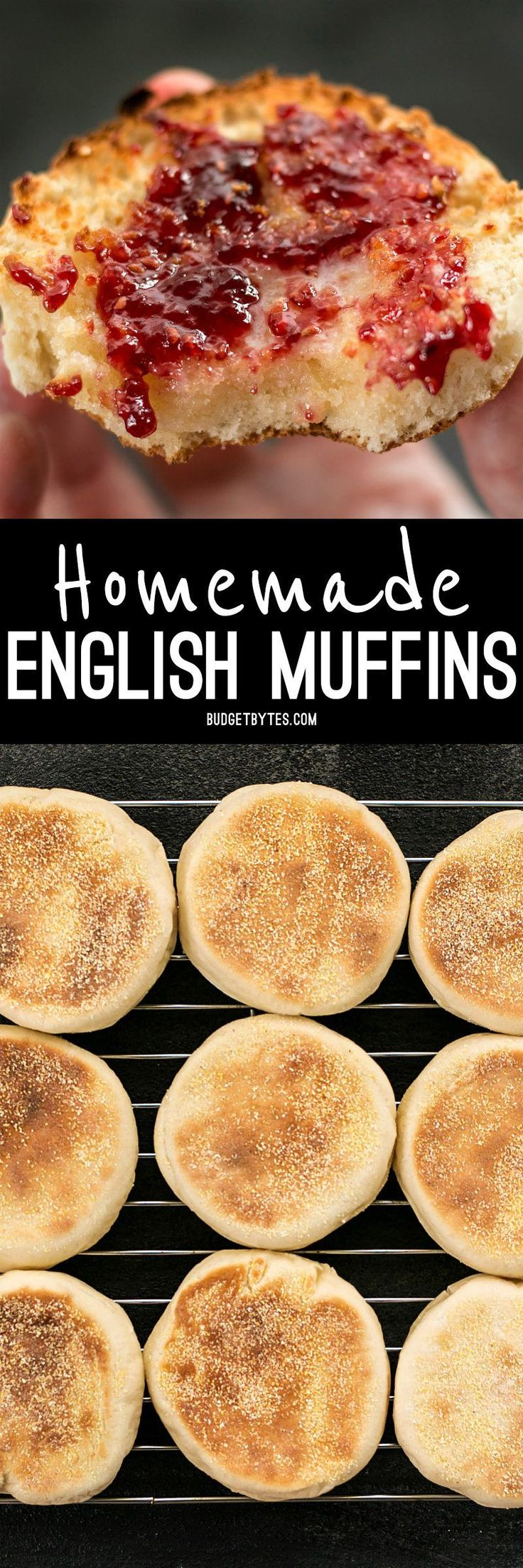 Homemade English muffins are fun to make, delicious, and cost just pennies each. Make this your next weekend project! BudgetBytes.com