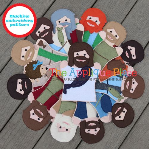 Jesus and His 12 disciples Puppet Set