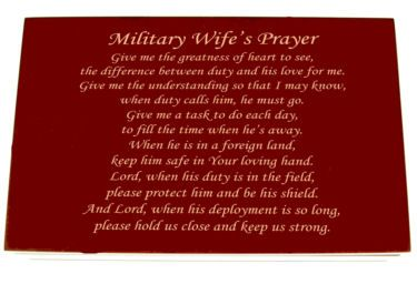Military Wifes Prayer,Gift For A Wife Whose Husband Is In The Military,Gift For a Military Wife,Wife of Military Man,Military Gift For A Wife