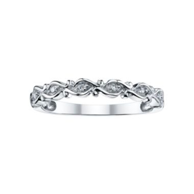 Fresh nicole by Nicole Miller Diamond Accent Scroll Wedding Band found at JCPenney