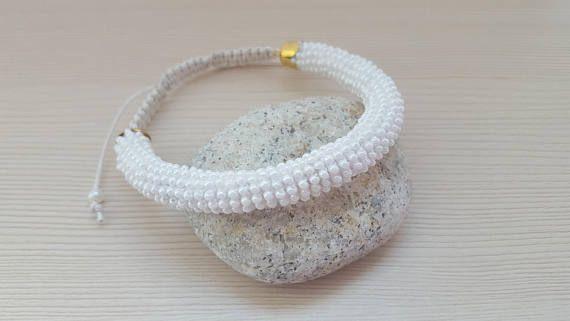 Elegant bracelet White bracelet Gift for her Gift for birthday