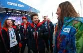 2-6-14.   The Princess Royal during the Team GB Welcome ceremony during the 2014 Sochi Olympic Games