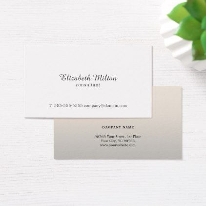 Minimalist Simple Elegant White Pastel Consultant Business Card - minimal gifts style template diy unique personalize design
