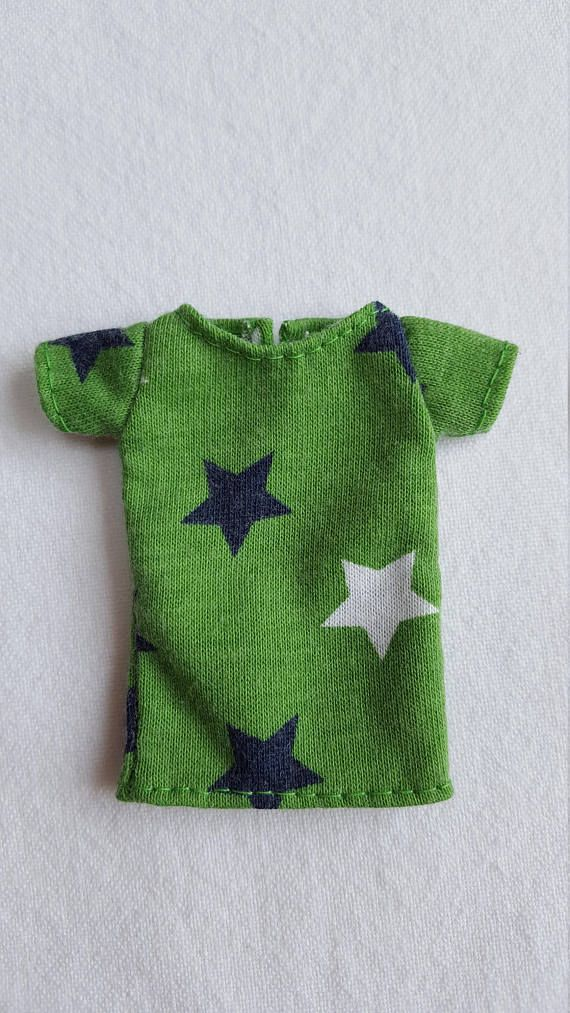 Green starry T-shirt for Isul doll