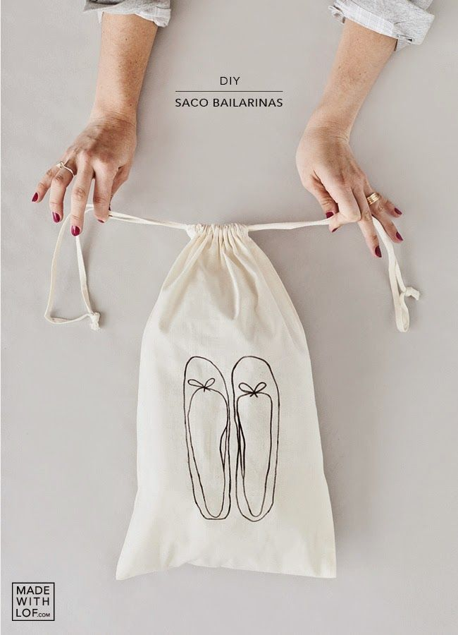 Made with lof: DIY - ¡Tu bolsa de zapatos personalizada en 5 minutos!