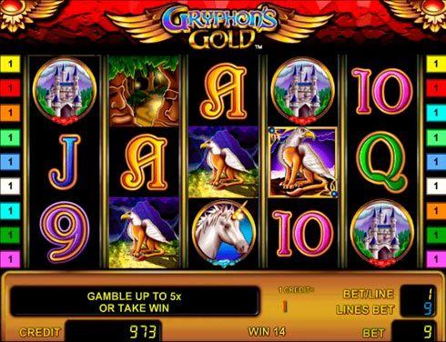 Игровой автомат Gryphon`s Gold на деньги в казино Вулкан.  Начните играть на реальные деньги в автомат Gryphon`s Gold, чтобы получить в награду золото грифонов. Запустив этот необычный игровой аппарат в казино Вулкан, вы сможете провести немало интересных часов. Но вас ждет н