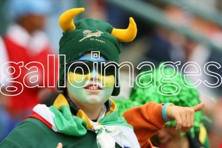 GEORGE, SOUTH AFRICA - 10 December 2005, A South African supporter  during the Emirates Airline South Africa Sevens match between South Africa and Argentina at the George Rugby Ground in George, South Africa. Photo Credit :  -  Gallo Images