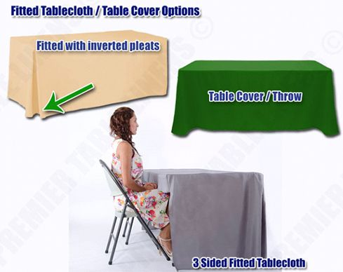 fitted tablecloth options at