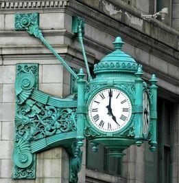 #Kazar Zdjęcie ulicy z zegarem
