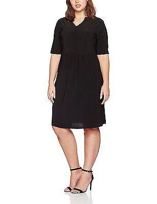 22 (Manufacturer Size:22/24), Black, Evans Women's Drapey Pocket Dress NEW